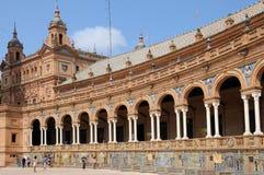Plaza de Espana, arcada fotos de stock royalty free