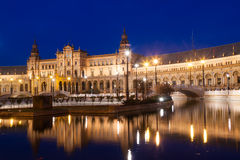 Plaza de Espana avec des ponts Séville Images stock