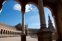 Plaza De Espana avec le beau ciel bleu Photographie stock