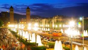 Plaza de Espana a Barcellona, Spagna Fotografia Stock