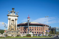 Plaza de Espana in Barcelona, Spain Royalty Free Stock Images