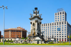 Plaza de Espana in Barcelona, Spanien Lizenzfreie Stockfotos