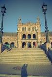 Plaza de Espana, câmara municipal em Sevilha, Espanha, Europa Fotografia de Stock Royalty Free