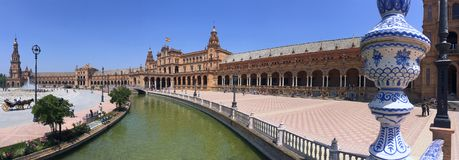 Plaza de Espana - Seville - Andalusia - Spain Royalty Free Stock Photo