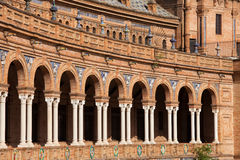 Plaza de Espana Colonnade in Seville Stock Image