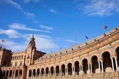 Plaza de Espana Colonnade in Siviglia fotografia stock libera da diritti