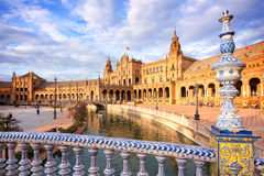 Plaza de Espana (cuadrado de España) en Sevilla, Andalucía Imagen de archivo libre de regalías