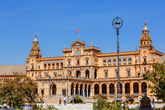 Plaza de Espana (cuadrado de España) en Sevilla, España Fotografía de archivo libre de regalías