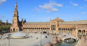 Plaza DE Espana in de dagtijd in Sevilla