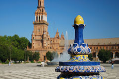 Plaza de Espana em Sevilha Imagem de Stock Royalty Free