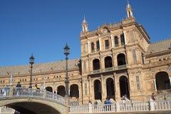 Plaza de Espana em Sevilha foi construída para o Exposicion 1929 Ibero-referente à cultura norte-americana Fotos de Stock
