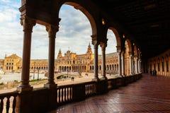 Plaza de Espana em Sevilha, Spain imagem de stock