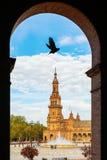 Plaza de Espana em Sevilha, Spain imagens de stock royalty free