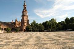 Plaza de Espana em Sevilha, Spain Foto de Stock Royalty Free