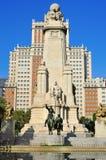 Plaza de Espana en Madrid, España Imagenes de archivo