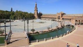 Plaza de Espana, en Séville, Andalisia, Espagne banque de vidéos
