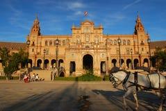 Plaza de Espana en Séville, Espagne Photographie stock