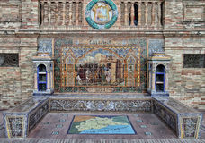Plaza de Espana en Sevilla Fotos de archivo