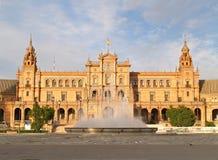 Plaza de Espana en Sevilla Imágenes de archivo libres de regalías