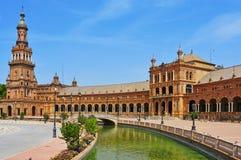 Plaza de Espana en Sevilla, España Imagen de archivo libre de regalías
