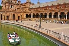 Plaza de Espana en Sevilla, España Foto de archivo libre de regalías