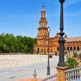 Plaza de Espana en Sevilla, España Foto de archivo