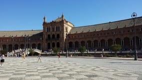 Plaza de Espana en Sevilla, España imagen de archivo