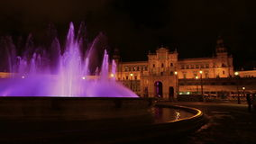 Plaza DE Espana fontein stock video