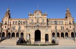 Plaza de Espana (fyrkant av Spanien) i Sevilla fotografering för bildbyråer