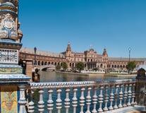 Plaza de Espana (fyrkant av Spanien) i Seville Fotografering för Bildbyråer