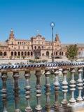 Plaza de Espana (fyrkant av Spanien) i Seville Arkivbild