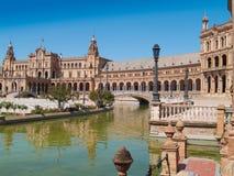 Plaza de Espana (fyrkant av Spanien) i Seville Arkivfoto