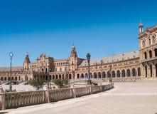 Plaza de Espana (fyrkant av Spanien) i Seville Arkivbilder