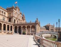 Plaza de Espana (fyrkant av Spanien) i Seville Arkivfoton