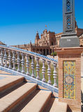 Plaza de Espana (fyrkant av Spanien) i Seville Royaltyfria Bilder