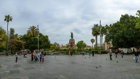 Plaza de Espana i Palma de Mallorca, Spanien Arkivbilder