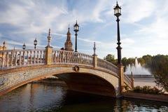 Plaza de Espana i Sevilla Fotografering för Bildbyråer