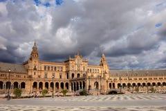 Plaza de Espana i Seville Royaltyfri Bild