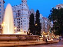 Plaza de Espana, Madrid fotografering för bildbyråer