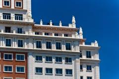 Plaza de Espana near Gran Via in Madrid Royalty Free Stock Images