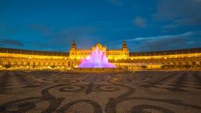 Plaza de Espana Night Στοκ εικόνα με δικαίωμα ελεύθερης χρήσης
