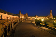 Plaza de Espana at night Royalty Free Stock Images
