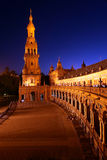 Plaza de Espana at night Stock Image