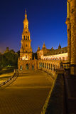 Plaza de Espana at night, Sevilla Royalty Free Stock Photos