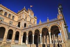 Plaza de Espana o quadrato della Spagna in Siviglia Fotografie Stock
