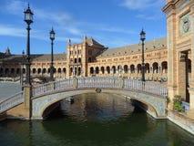 Plaza DE Espana onder Bluesky, Sevilla, Spanje Stock Afbeeldingen