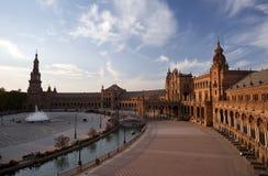 Plaza de Espana på solnedgången Arkivfoto