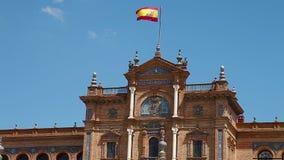 Plaza de Espana palace stock video footage