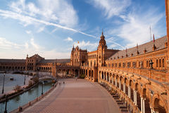 Plaza de Espana palace in Seville Royalty Free Stock Images
