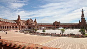 Plaza DE Espana panorama stock videobeelden